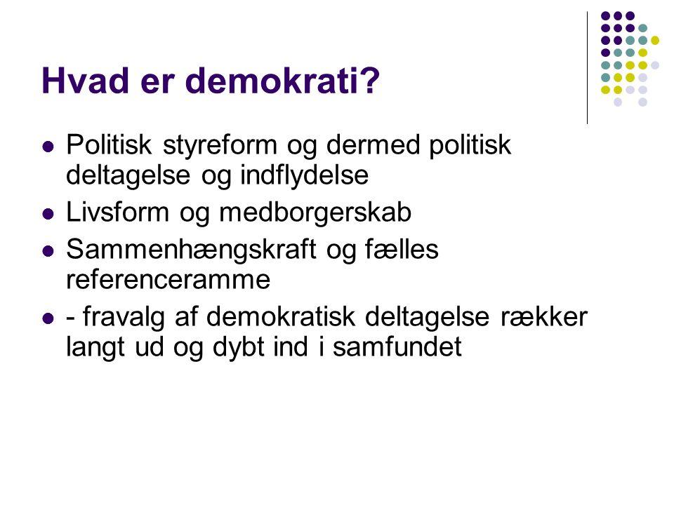 Hvad er demokrati.