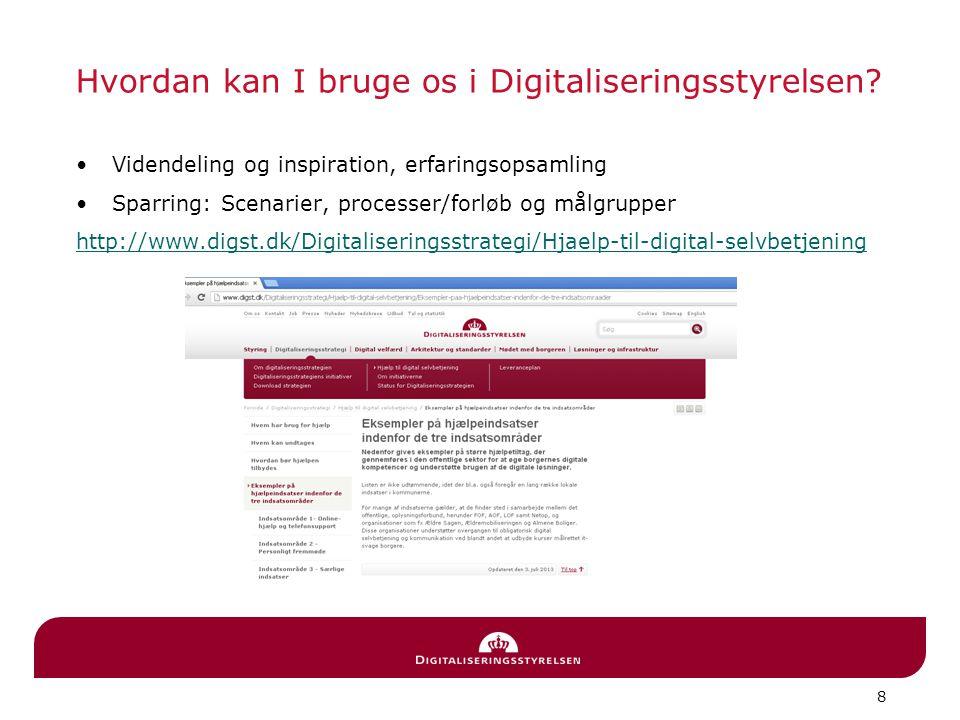 8 Hvordan kan I bruge os i Digitaliseringsstyrelsen.