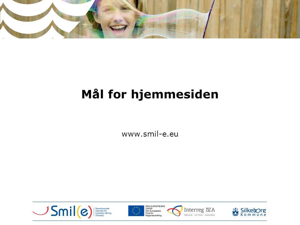Mål for hjemmesiden www.smil-e.eu