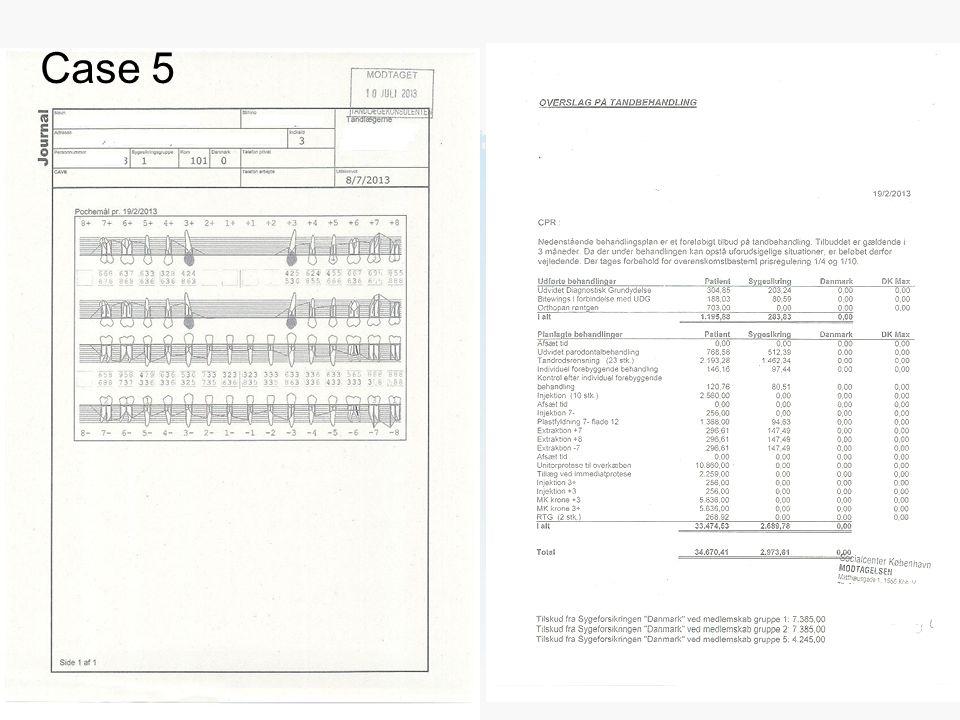 Dias titel: Gill Sans Bold 40pt (ALL CAPS) Body tekst: Gill Sans 25pt Afdelingsnavn (Gill Sans 10pt) Kopier til slide master for at se tekst på alle slides Case 5