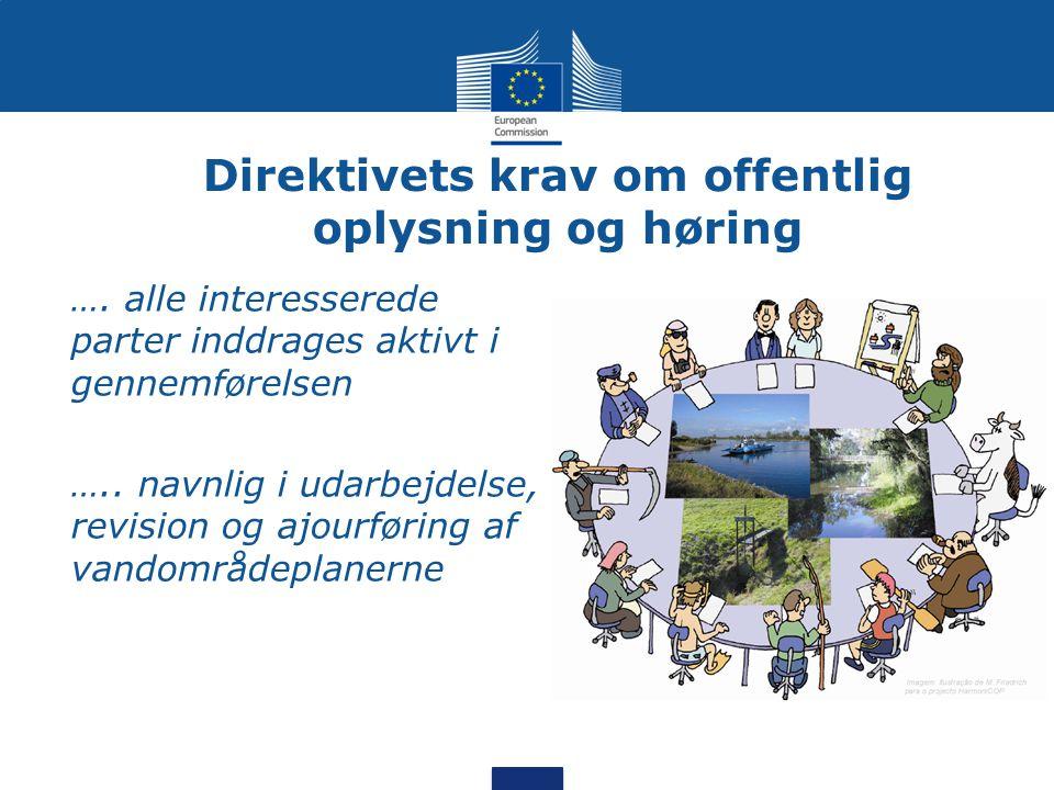 Direktivets krav om offentlig oplysning og høring •….