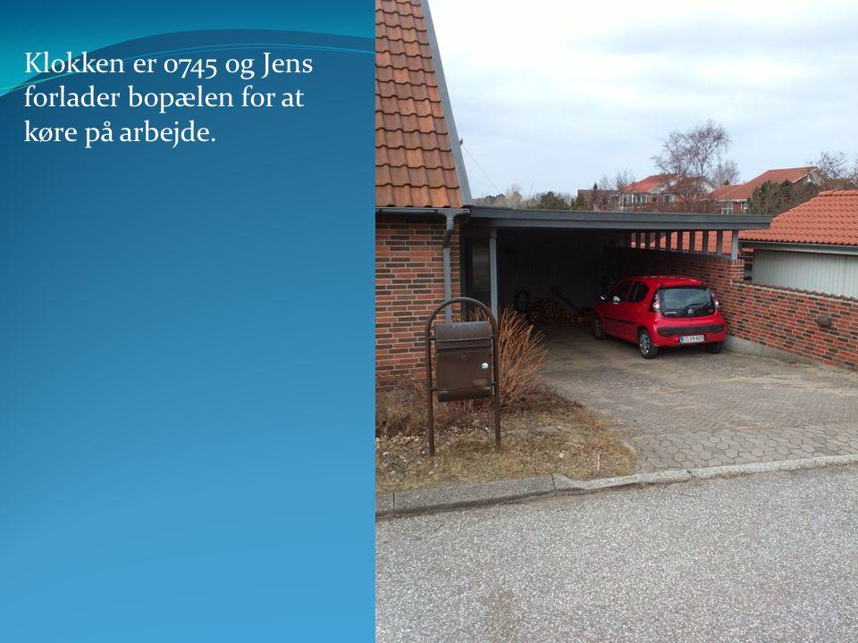 Klokken er 0745 og Jens forlader bopælen for at køre på arbejde. www.StopTyve.com