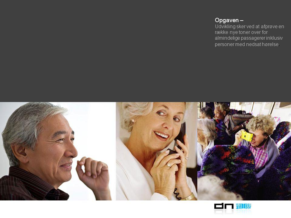 Opgaven – at forbedre kundeforståelsen af Rejsekorts lydsystem ved at udvikle en ny lyd til fejltonen OKOK - men Nuværende Error