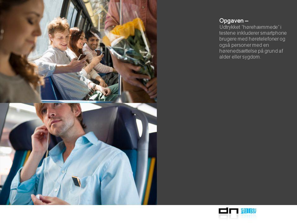 Opgaven – Udvikling sker ved at afprøve en række nye toner over for almindelige passagerer inklusiv personer med nedsat hørelse.