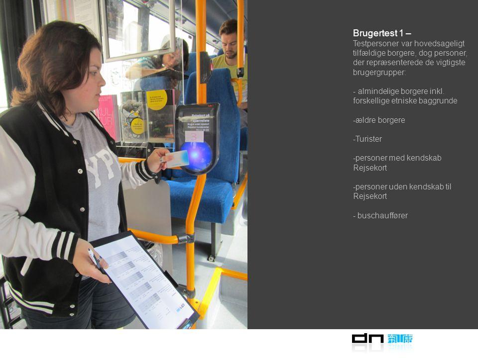 Brugertest 1 – Formatet og detaljerne for brugertests var at udføre afprøvning i så ægte et miljø som muligt.