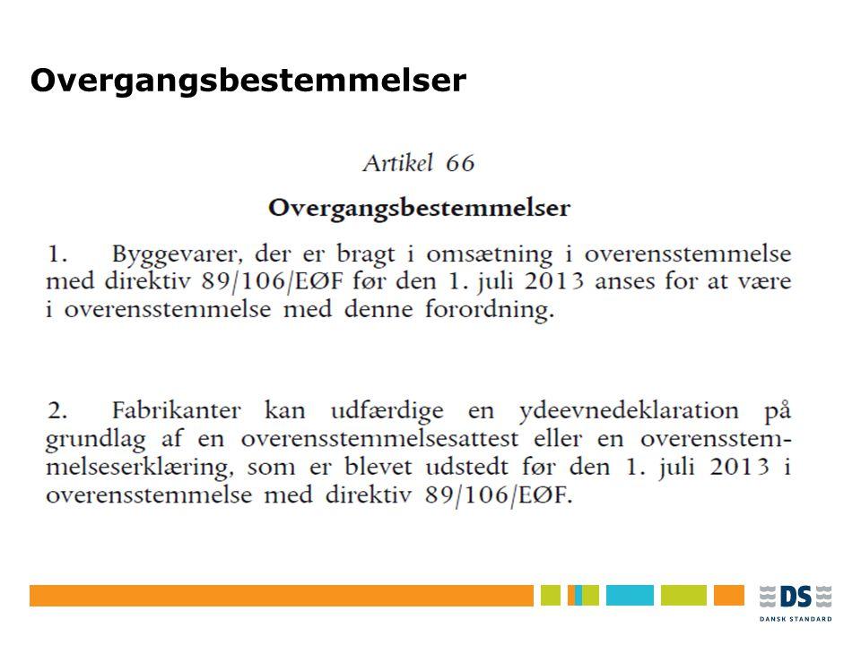 Tekstslide i punktform Rubrik, helst 1 linje Brug Forøg/Formindsk indryk for at få de forskellige niveauer frem Overgangsbestemmelser