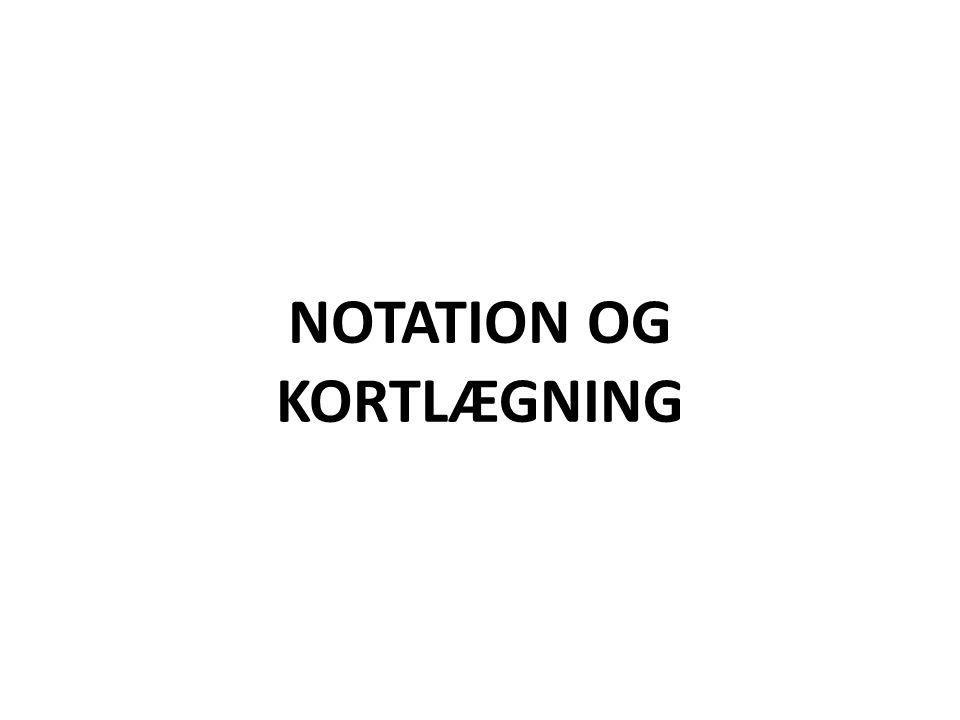 NOTATION OG KORTLÆGNING