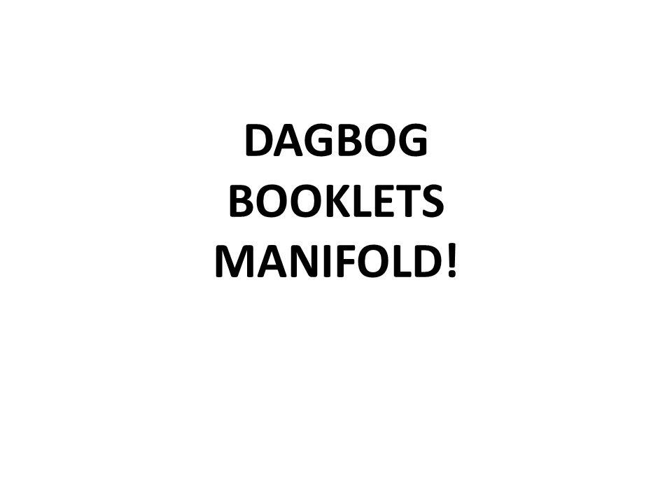 DAGBOG BOOKLETS MANIFOLD!