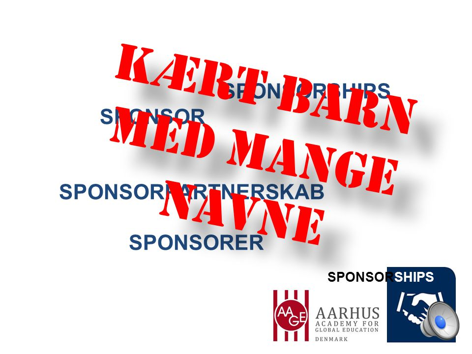 SPONSORSHIPS SPONSOR SPONSORPARTNERSKAB SPONSORER