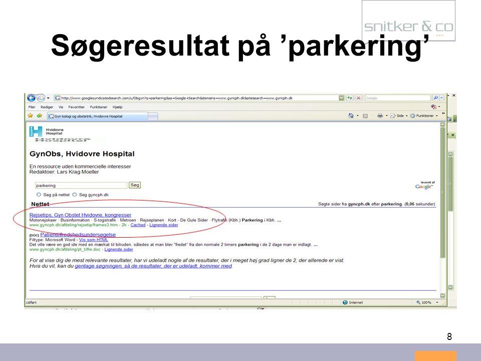 8 Søgeresultat på 'parkering'