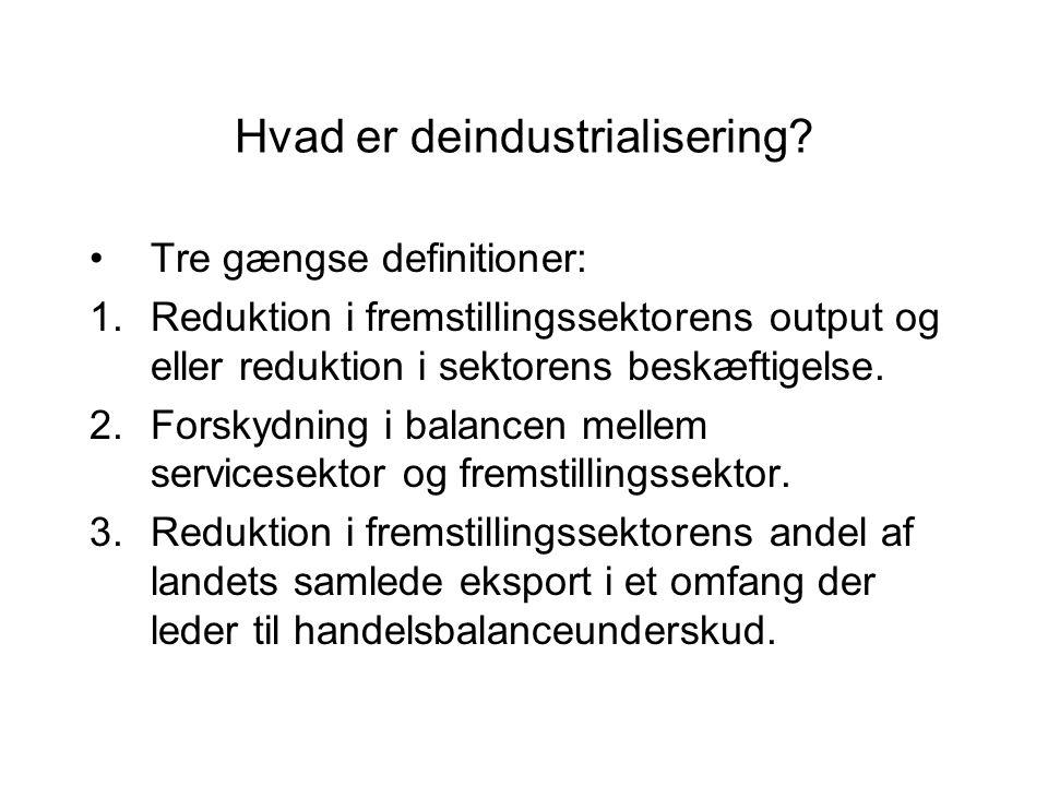 Hvad er deindustrialisering.