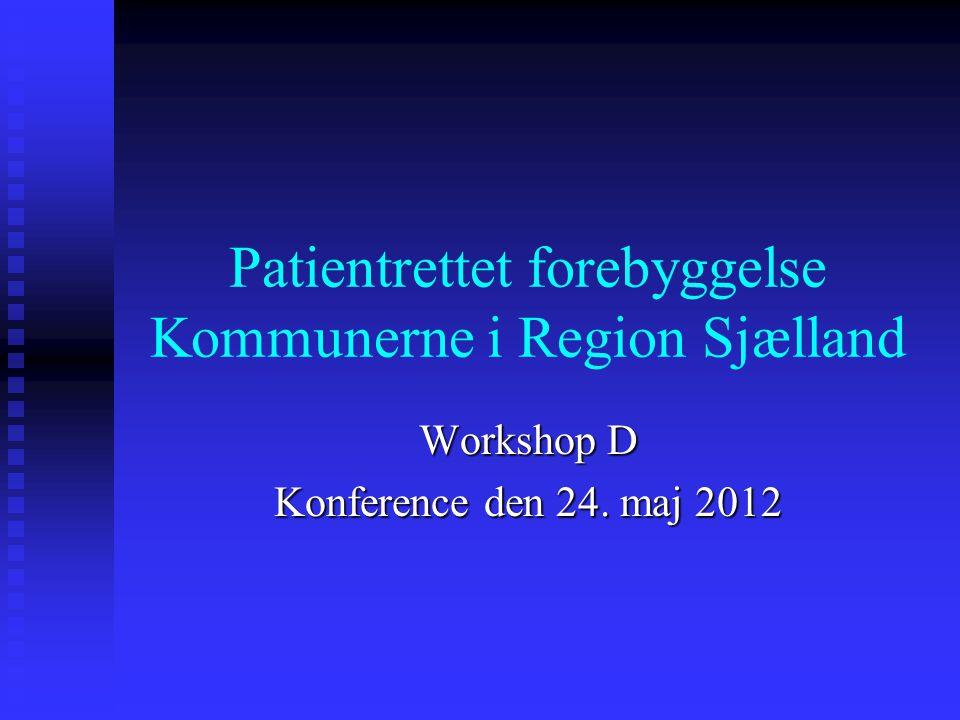 Patientrettet forebyggelse Kommunerne i Region Sjælland Workshop D Konference den 24. maj 2012