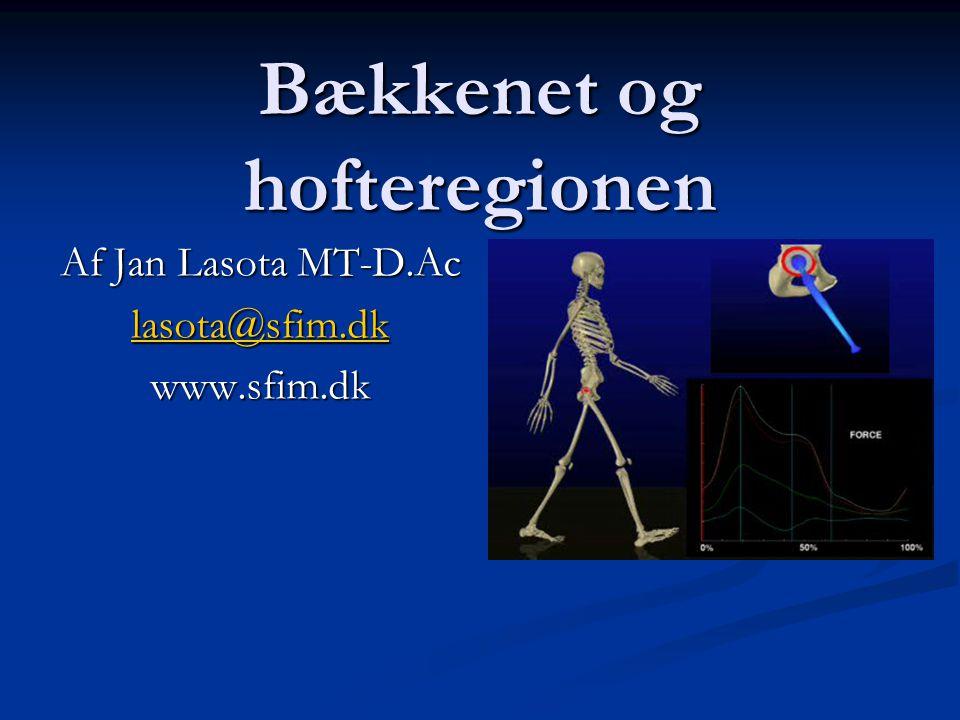 Bækkenet og hofteregionen Af Jan Lasota MT-D.Ac lasota@sfim.dk www.sfim.dk