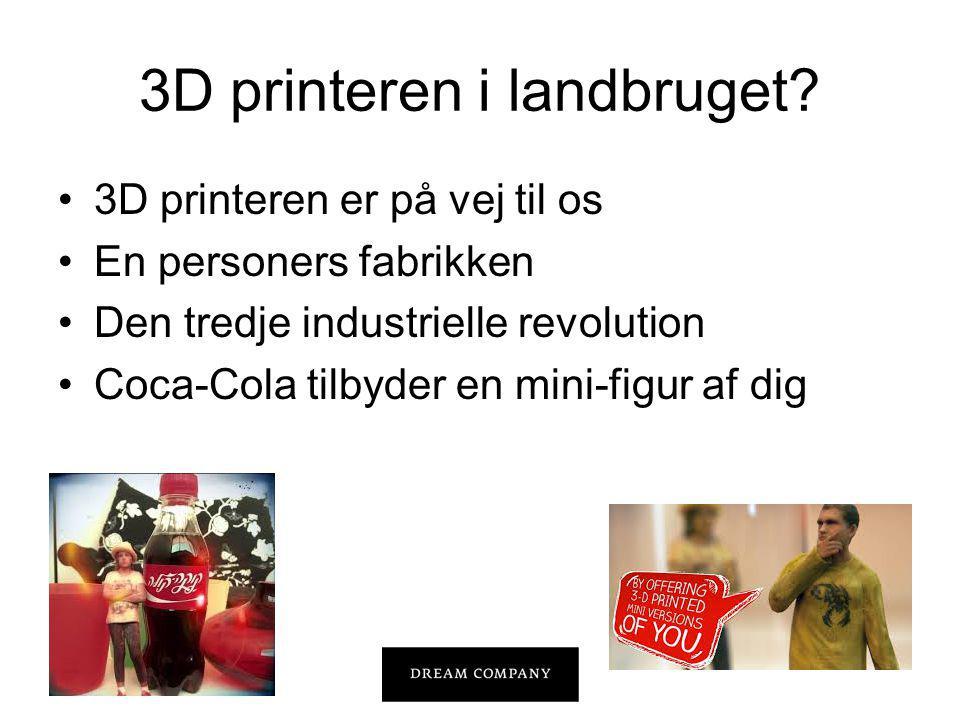 3D printeren i landbruget.