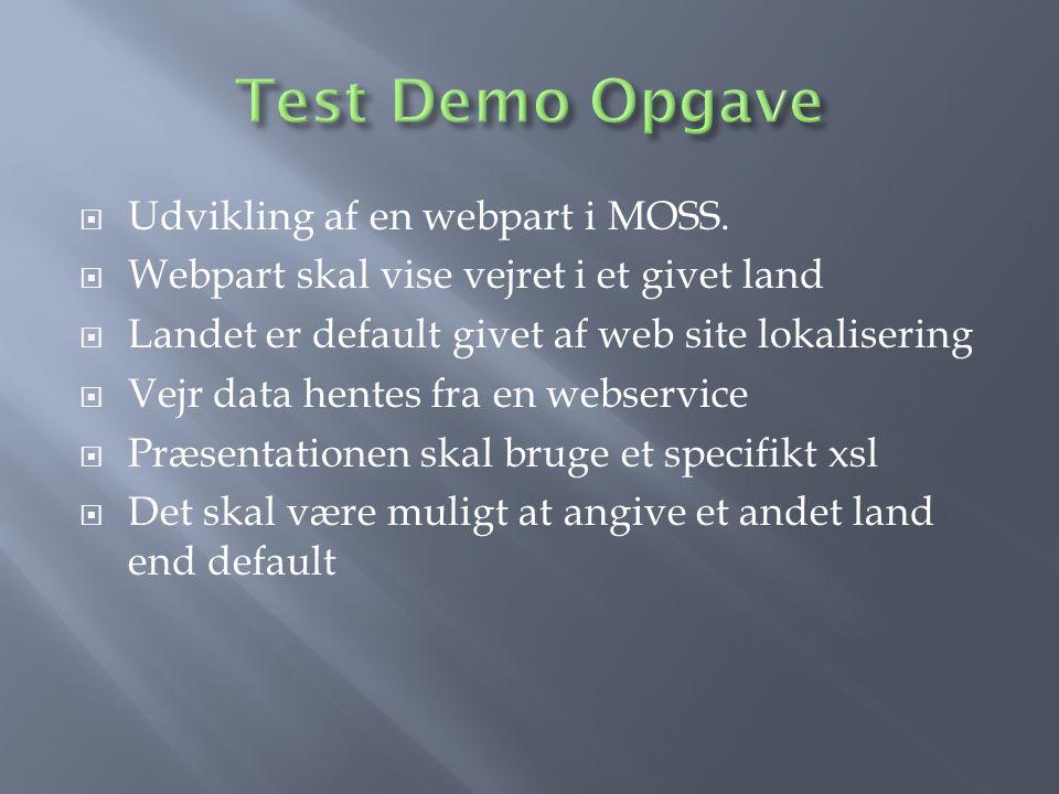  Udvikling af en webpart i MOSS.