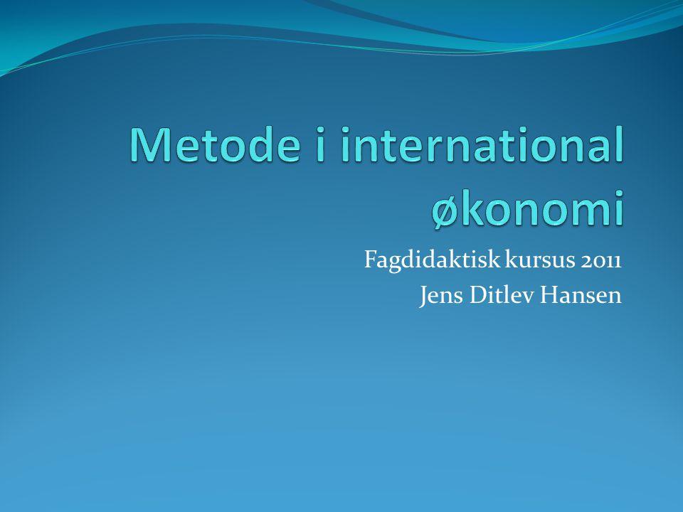 Fagdidaktisk kursus 2011 Jens Ditlev Hansen