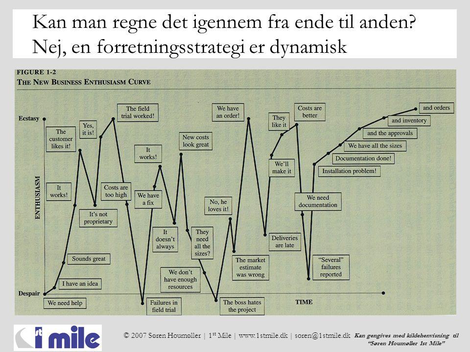 © 2007 Søren Houmøller | 1 st Mile | www.1stmile.dk | soren@1stmile.dk Kan gengives med kildehenvisning til Søren Houmøller 1st Mile Kan man regne det igennem fra ende til anden.