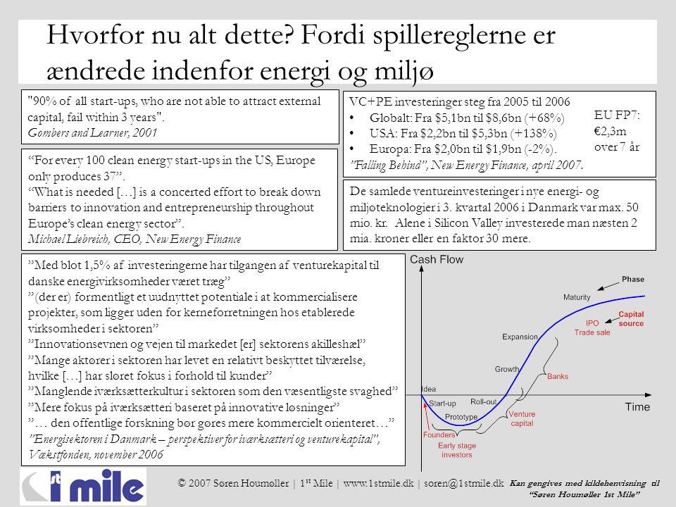 © 2007 Søren Houmøller | 1 st Mile | www.1stmile.dk | soren@1stmile.dk Kan gengives med kildehenvisning til Søren Houmøller 1st Mile Hvorfor nu alt dette.