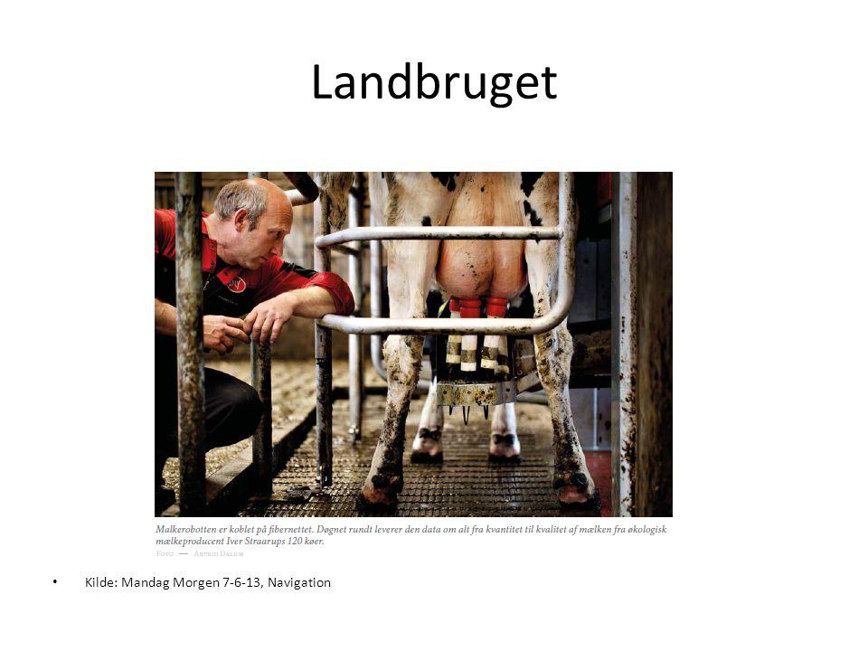 Landbruget • Kilde: Mandag Morgen 7-6-13, Navigation