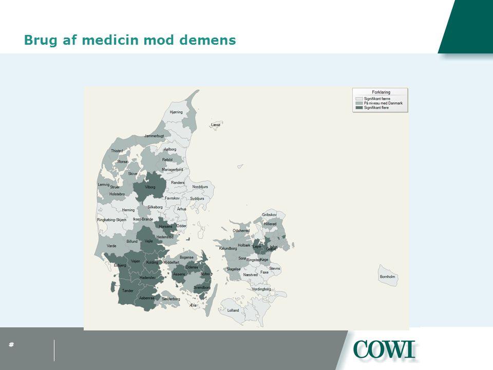 # Brug af medicin mod demens