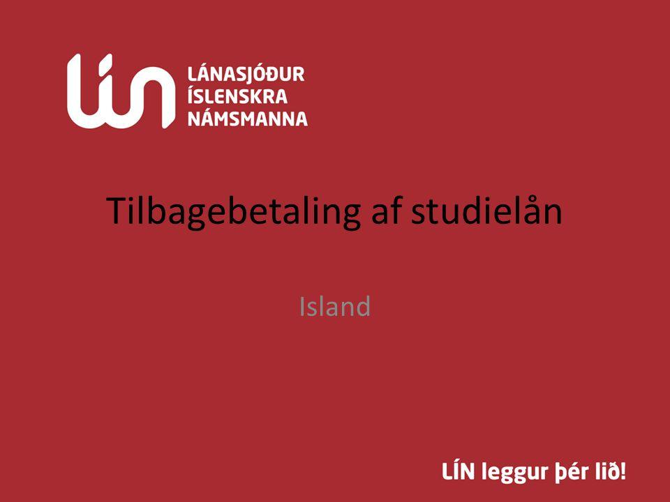 Tilbagebetaling af studielån Island