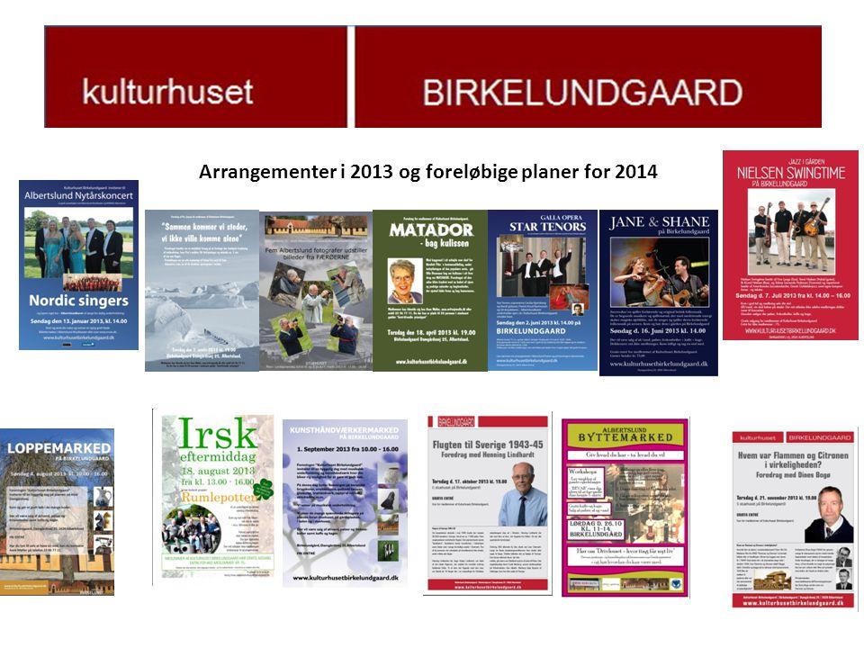 Arrangementer i 2013 og foreløbige planer for 2014