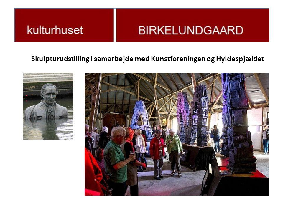Skulpturudstilling i samarbejde med Kunstforeningen og Hyldespjældet