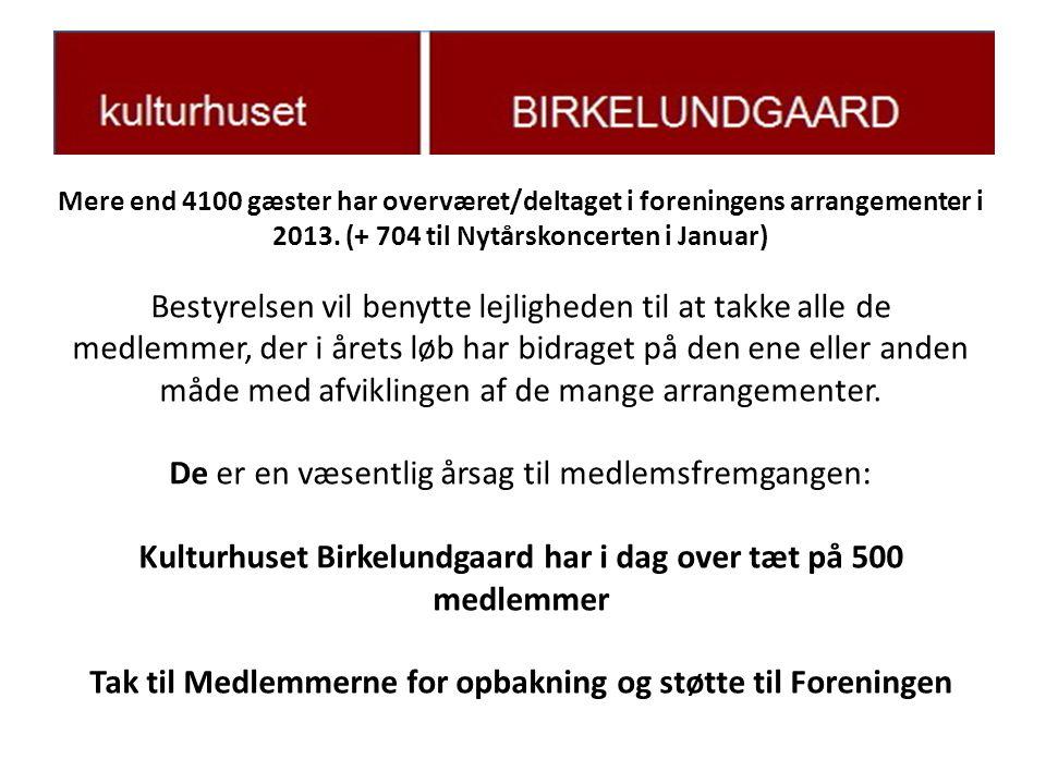 Mere end 4100 gæster har overværet/deltaget i foreningens arrangementer i 2013.