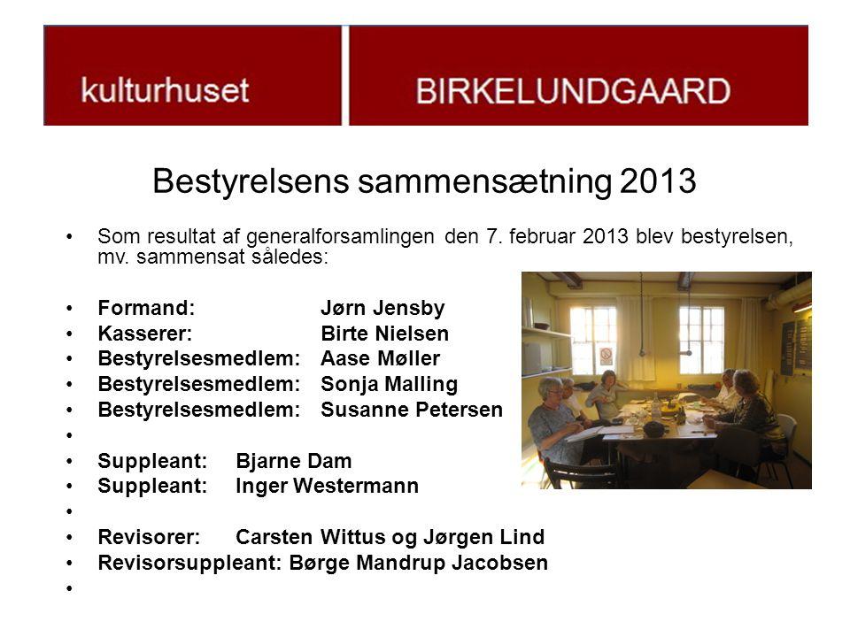 Bestyrelsens sammensætning 2013 •Som resultat af generalforsamlingen den 7.