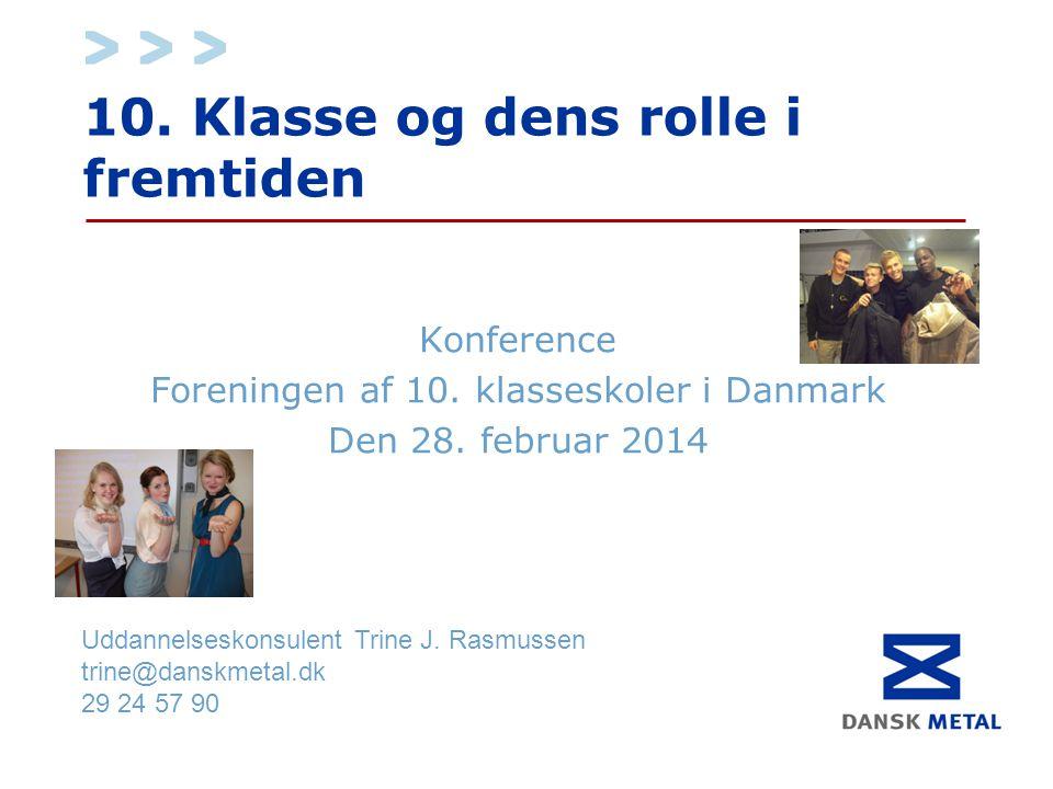 10. Klasse og dens rolle i fremtiden Konference Foreningen af 10.
