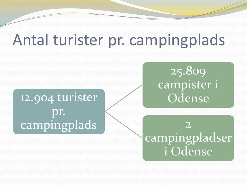 Antal turister pr. campingplads 12.904 turister pr.