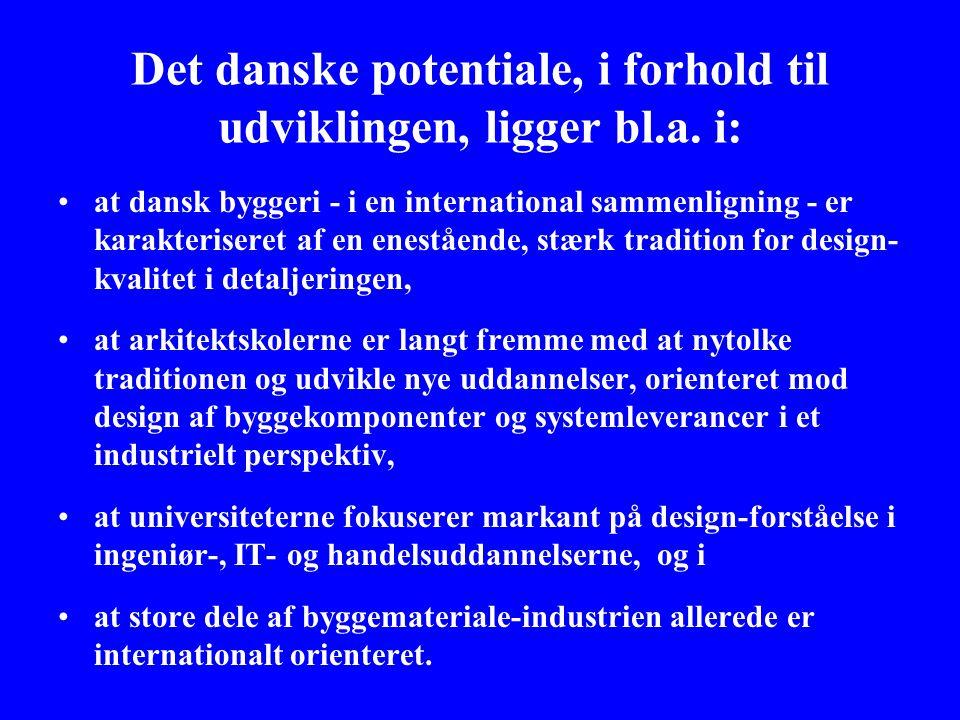 Det danske potentiale, i forhold til udviklingen, ligger bl.a.
