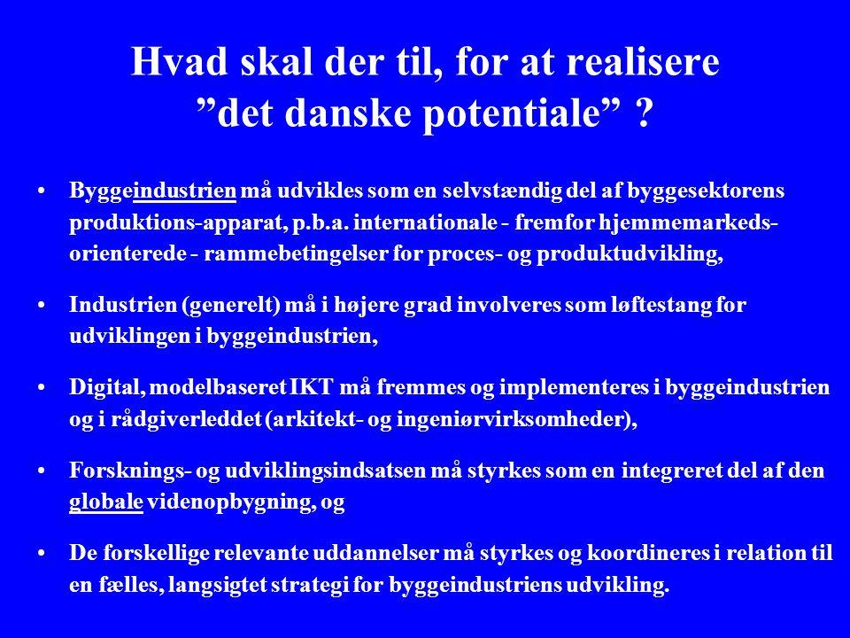 Hvad skal der til, for at realisere det danske potentiale .