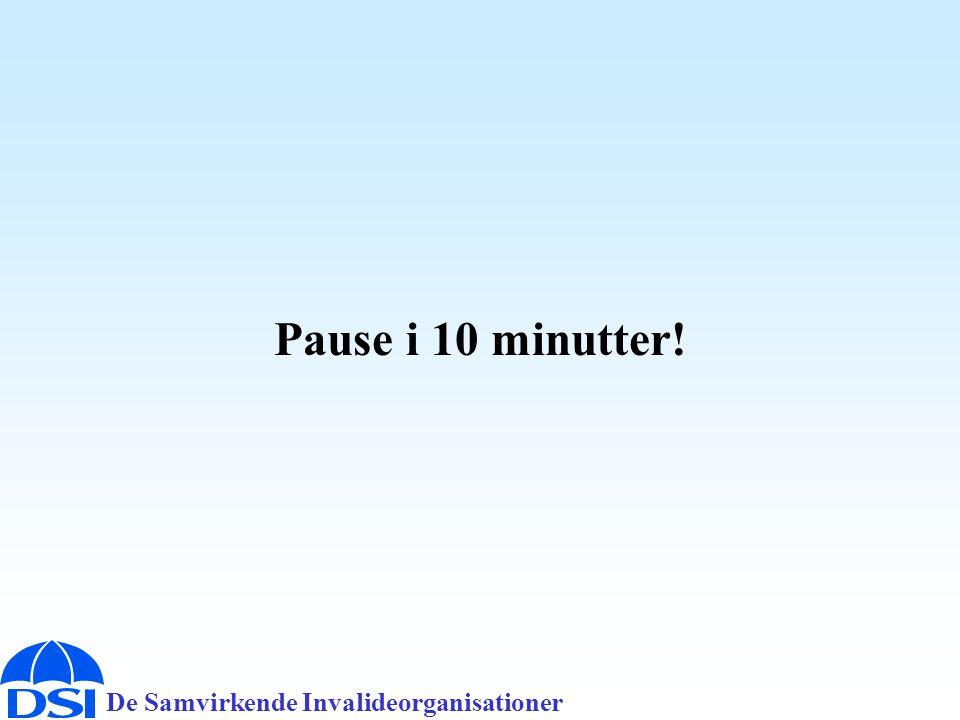 De Samvirkende Invalideorganisationer Pause i 10 minutter!