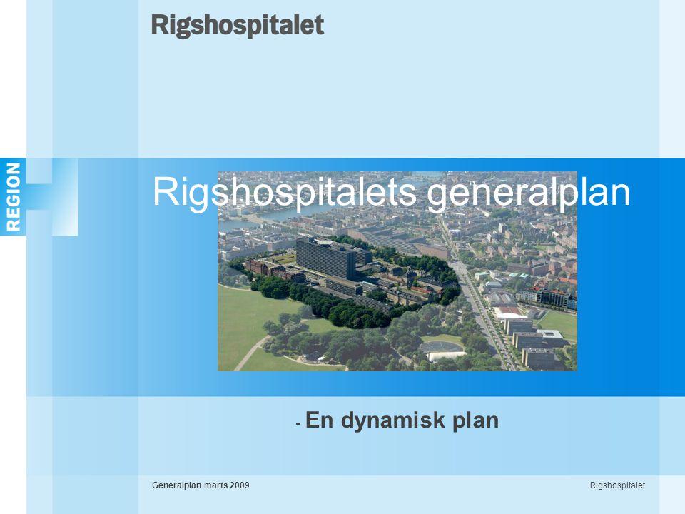 RigshospitaletGeneralplan marts 2009 - En dynamisk plan Rigshospitalets generalplan