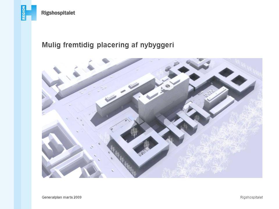 RigshospitaletGeneralplan marts 2009 Mulig fremtidig placering af nybyggeri