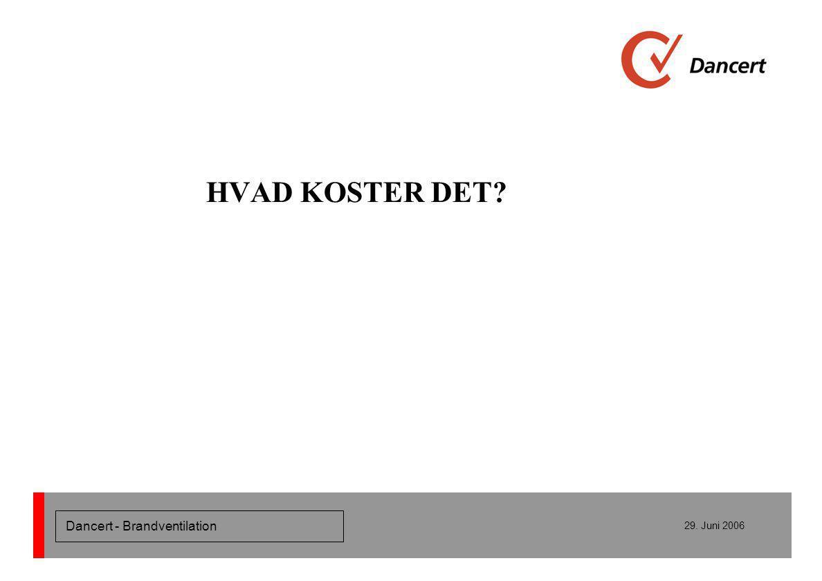Dancert - Brandventilation 29. Juni 2006 HVAD KOSTER DET