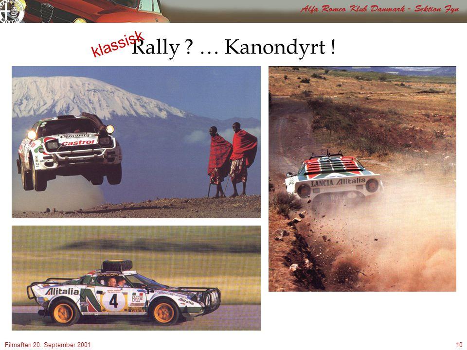 Filmaften 20. September 200110 Rally … Kanondyrt ! klassisk