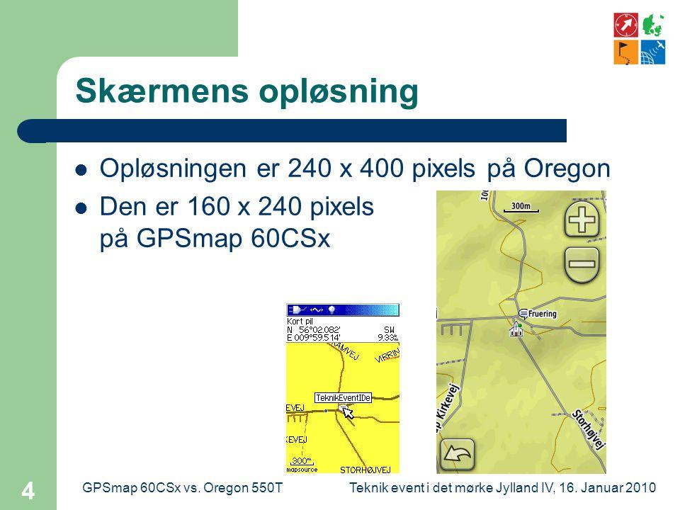 Teknik event i det mørke Jylland IV, 16. Januar 2010GPSmap 60CSx vs.