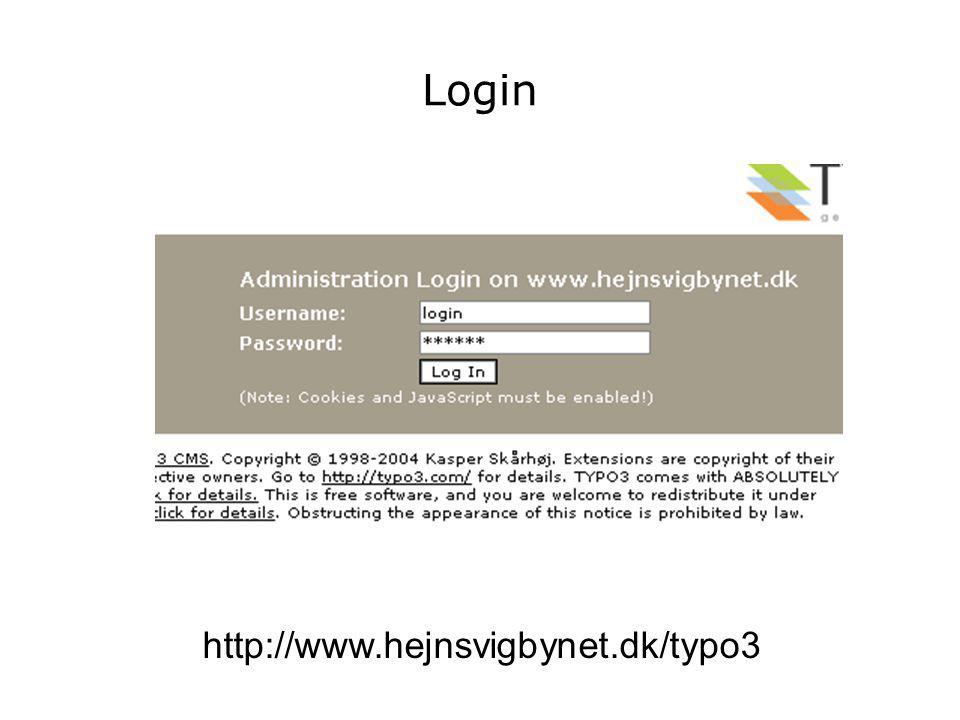 Login http://www.hejnsvigbynet.dk/typo3
