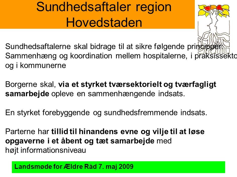 Sundhedsaftaler region Hovedstaden Landsmøde for Ældre Råd 7.