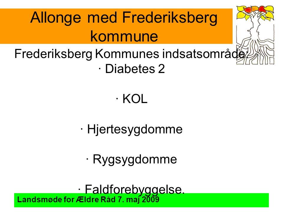 Allonge med Frederiksberg kommune Landsmøde for Ældre Råd 7.