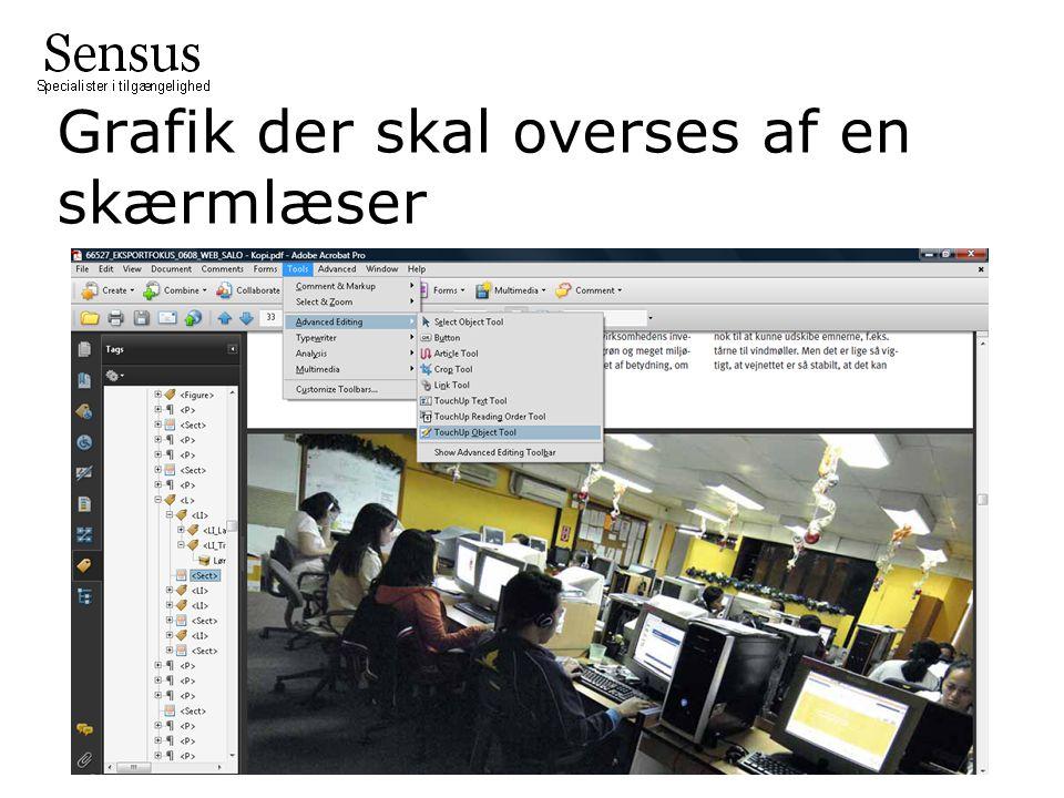 Grafik der skal overses af en skærmlæser