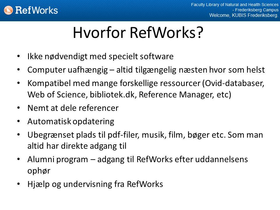 Hvorfor RefWorks.