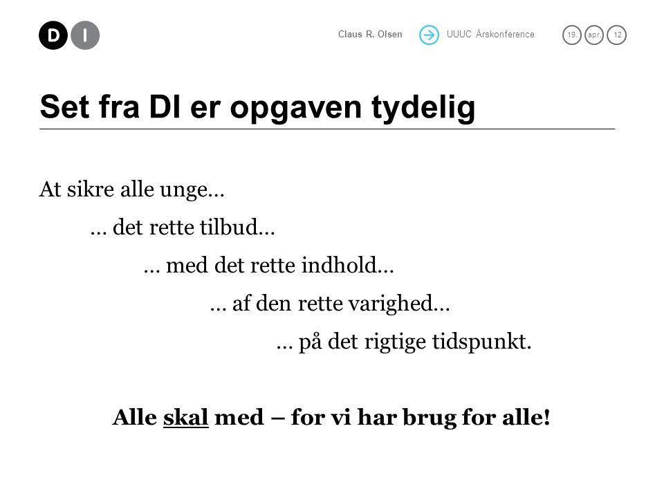 UUUC Årskonference 19.apr. 12 Claus R.