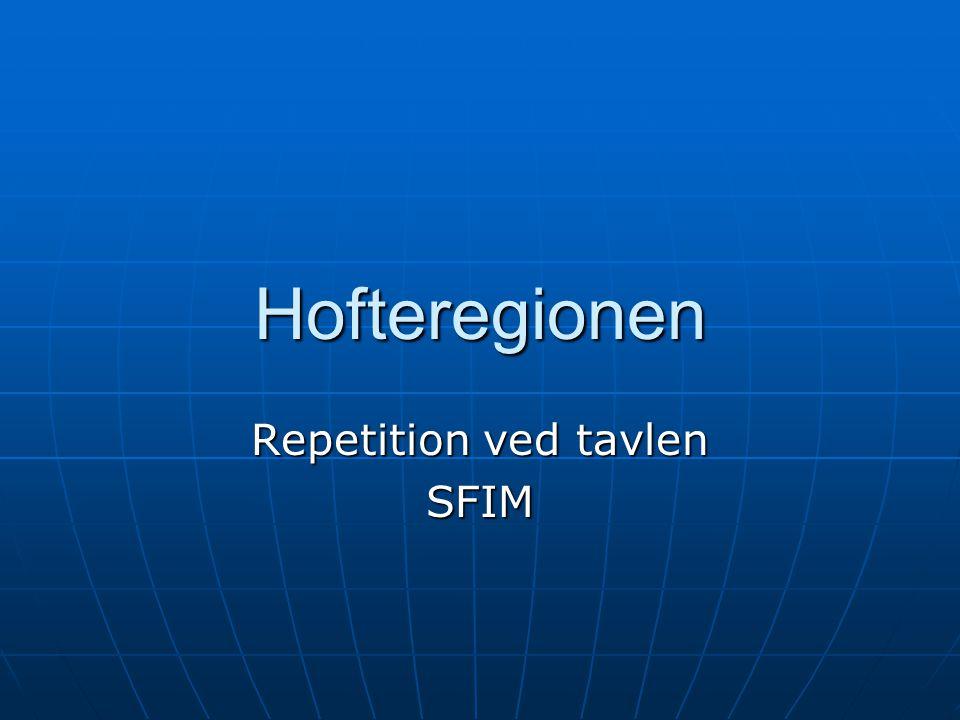 Hofteregionen Repetition ved tavlen SFIM