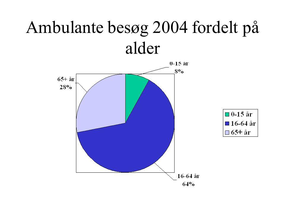 Ambulante besøg 2004 fordelt på alder
