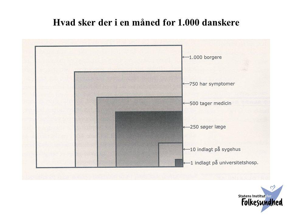 Hvad sker der i en måned for 1.000 danskere