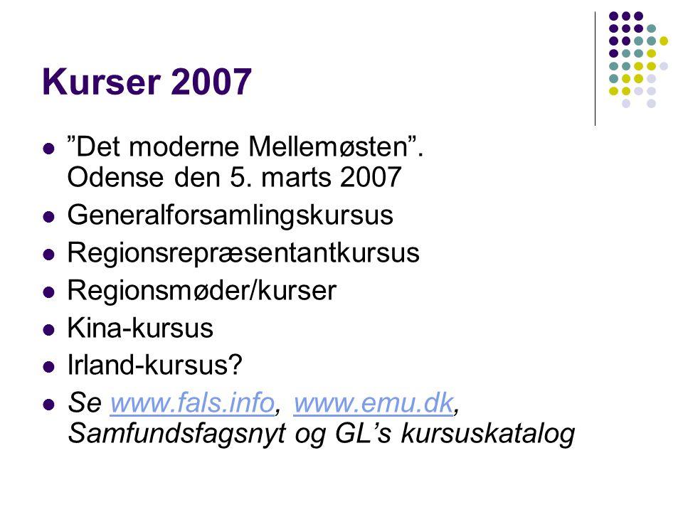 Kurser 2007  Det moderne Mellemøsten . Odense den 5.