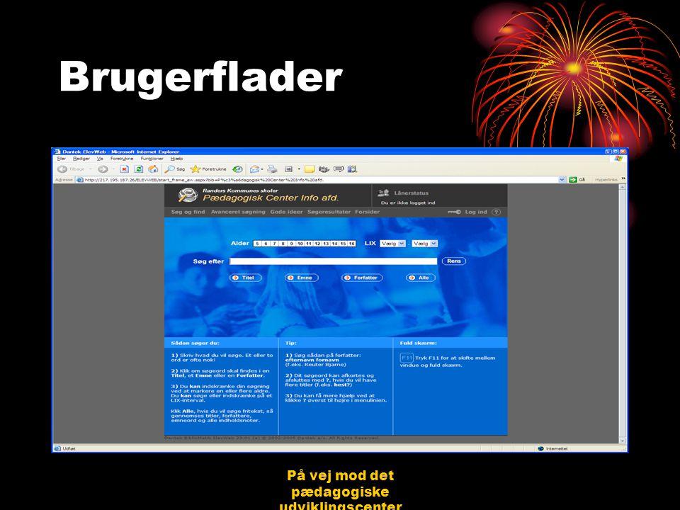 På vej mod det pædagogiske udviklingscenter Bjerringbro 31.08.06 Jørgen Schirmer Nielsen Brugerflader